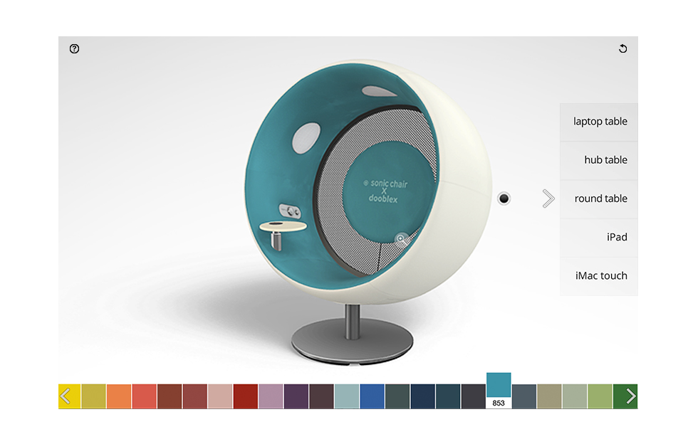 Sonic Chair 3D Konfigurator by Dooblex